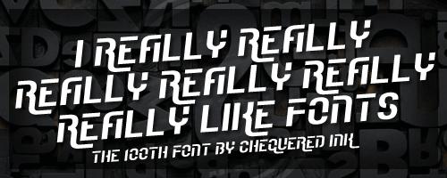 I Really Really Really Really R font by Chequered Ink