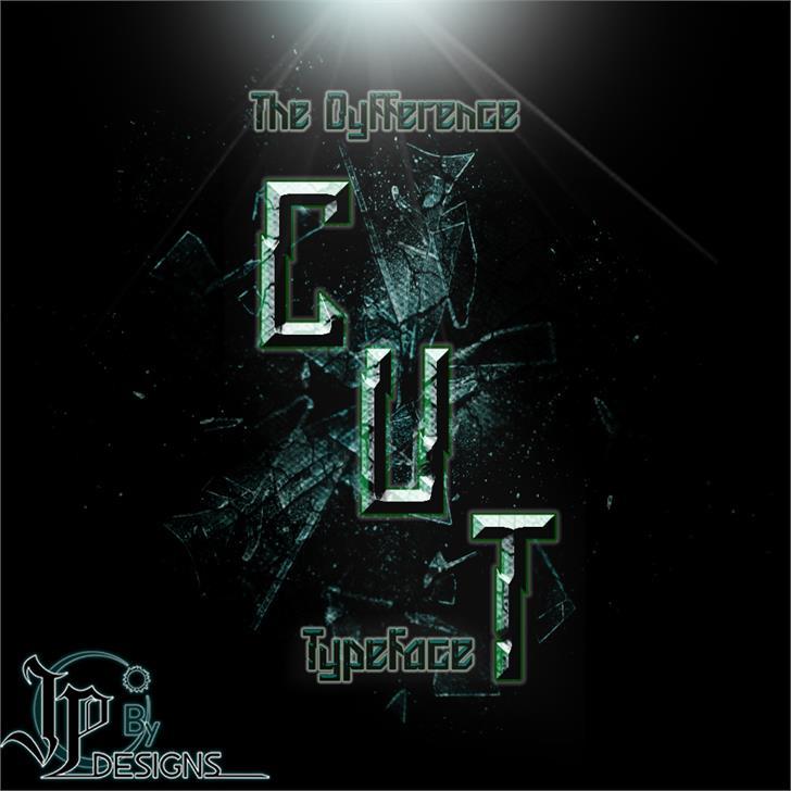 CUT font by LJ Design Studios