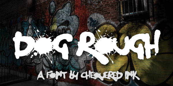 Dog Rough font by Chequered Ink
