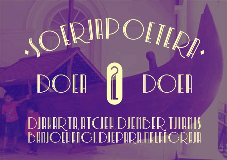 Soerjapoetera Doea font by Gunarta