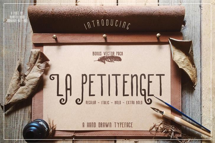 La Petitenget font by burntilldead