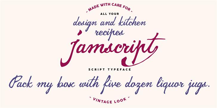jamscript font by Zetafonts