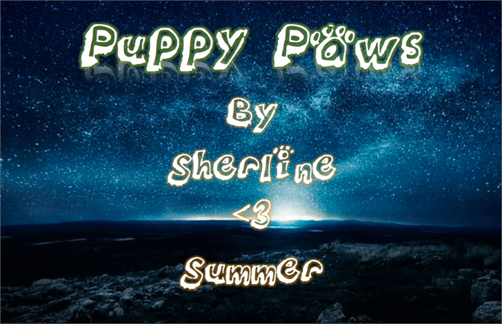 Puppy_paws font by SHERLINE ❤ SUMMER