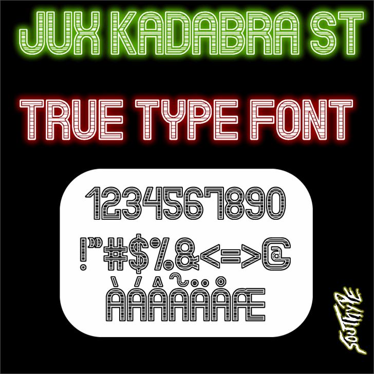 Jux Kadabra St font by Southype