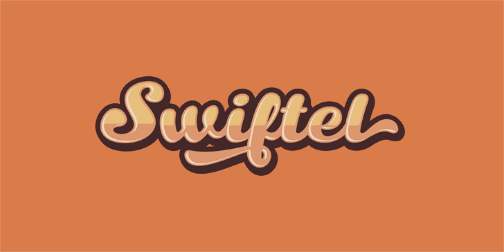 Swiftel Base DEMO font by seventhimperium