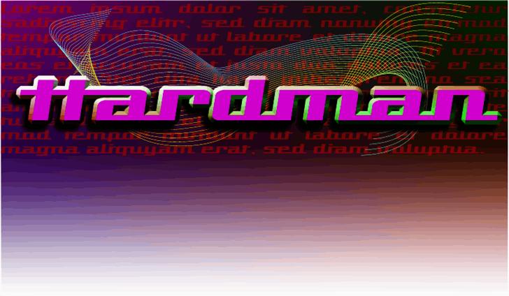 Hardman font by Peter Wiegel