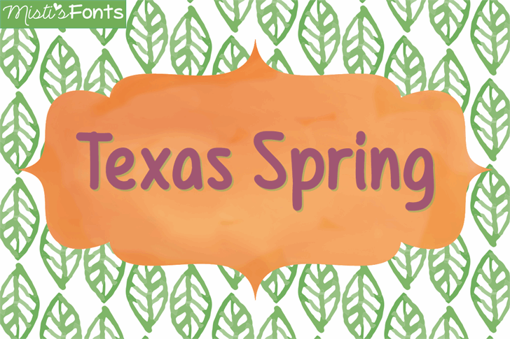 Mf Texas Spring font by Misti's Fonts