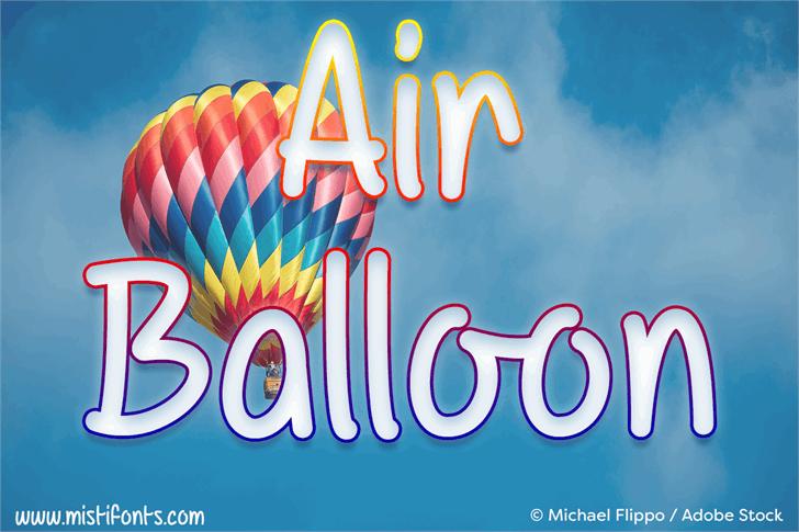 Mf Air Balloon font by Misti's Fonts