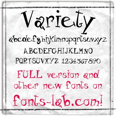 Variety_free-version font by FontsCafe
