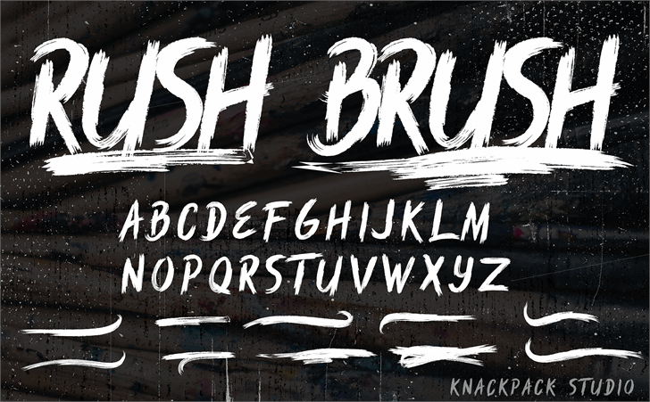Rush Brush font by knackpackstudio