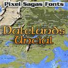 Dalelands font by Pixel Sagas