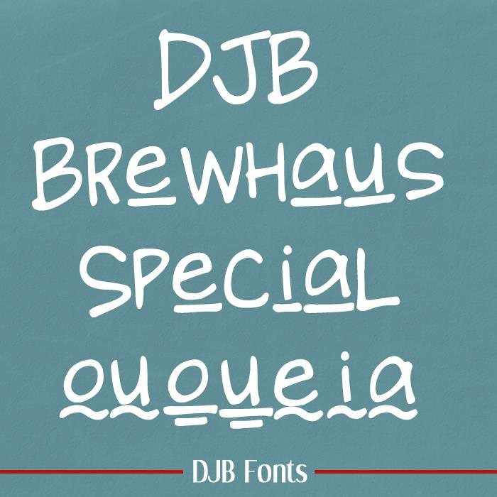 DJB BREWHAUS SPECIAL font by Darcy Baldwin Fonts