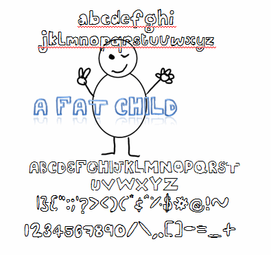 A fat child font by nicola