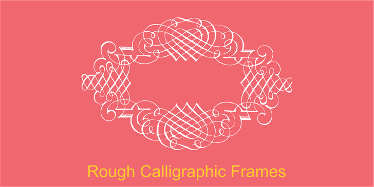 Rough Calligraphic Frames font by Intellecta Design