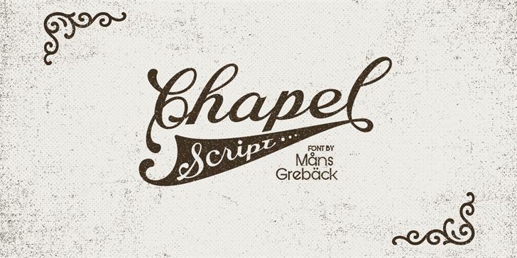 Chapel Script PERSONAL USE font by Måns Grebäck