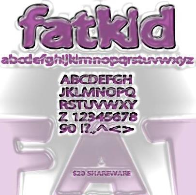Fatkid font by Anigma New Media