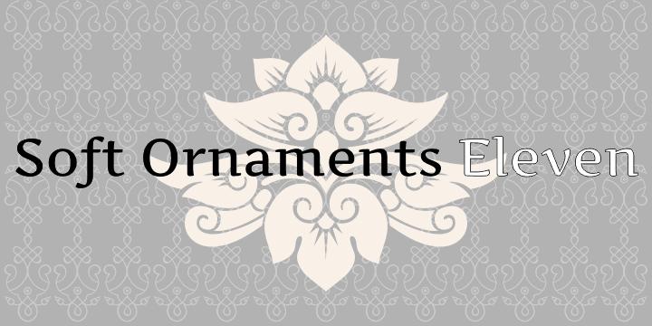 Soft Ornaments Eleven font by Intellecta Design