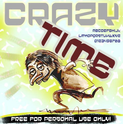 vtks crazy time font by VTKS DESIGN
