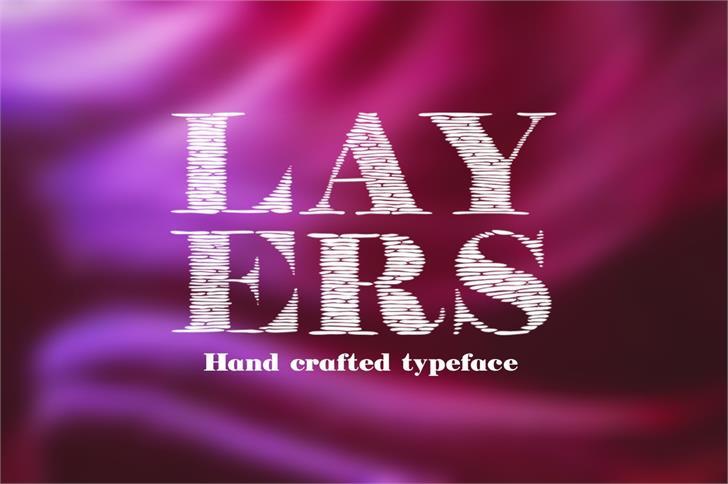 Layers font by Eva Barabasne Olasz