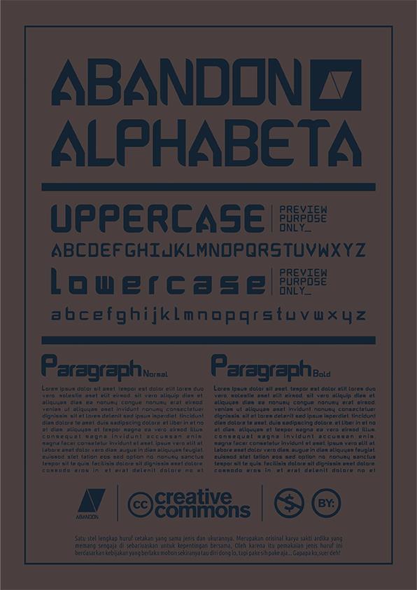 ABANDON ALPHABETA font by ABANDON