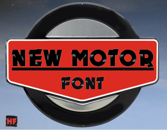 New MOTOR font by Herofonts