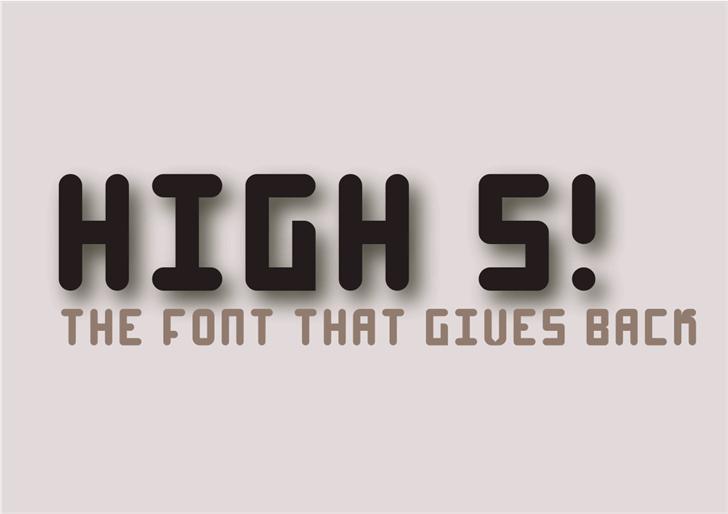 High 4 font by EncloFonts