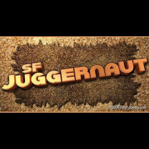 SF Juggernaut font by ShyFoundry