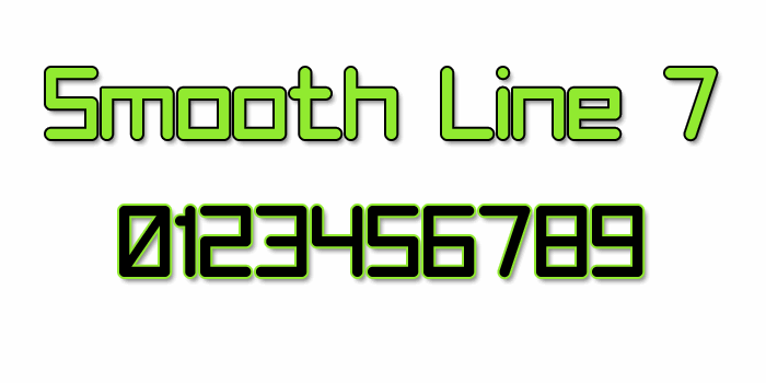 Smooth Line 7 font by Style-7