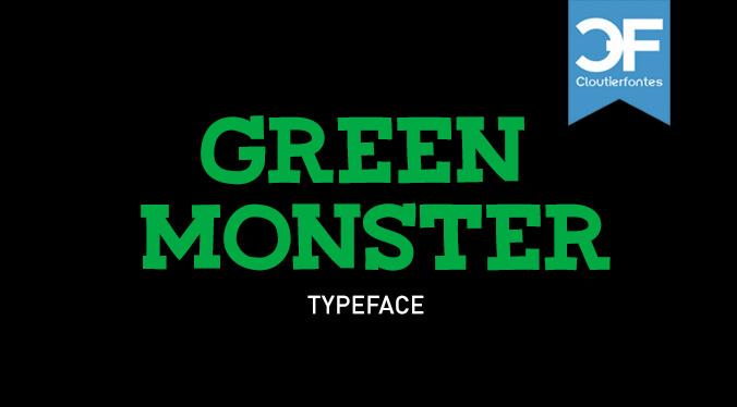 CF Green Monster font by CloutierFontes