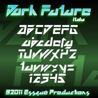 Dark Future font by Essqué Productions