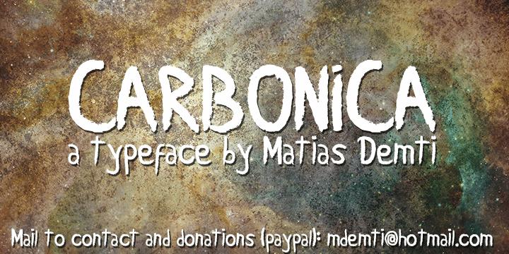 Carbonica font by Matias Demti
