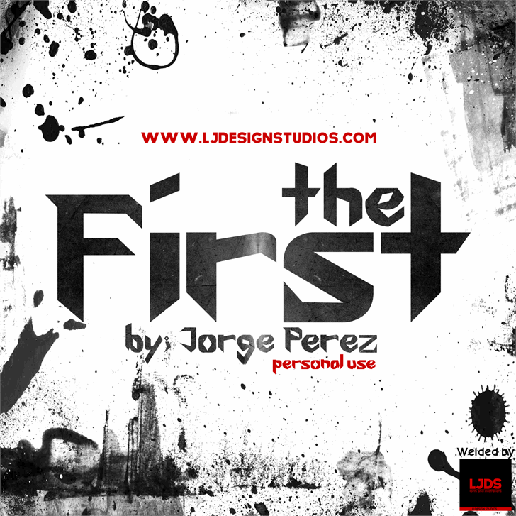The First font by LJ Design Studios