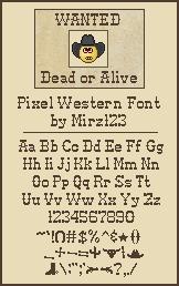 Pixel-Western font by Mirz123