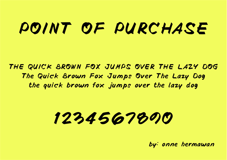 POINTOFPURCHASE font by onne hermaone