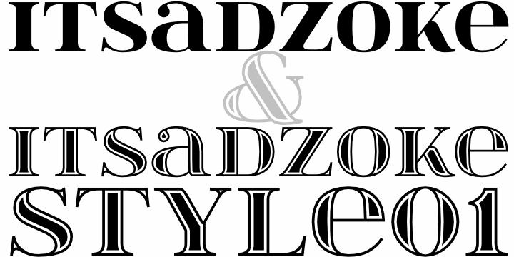 itsadzoke font by gluk