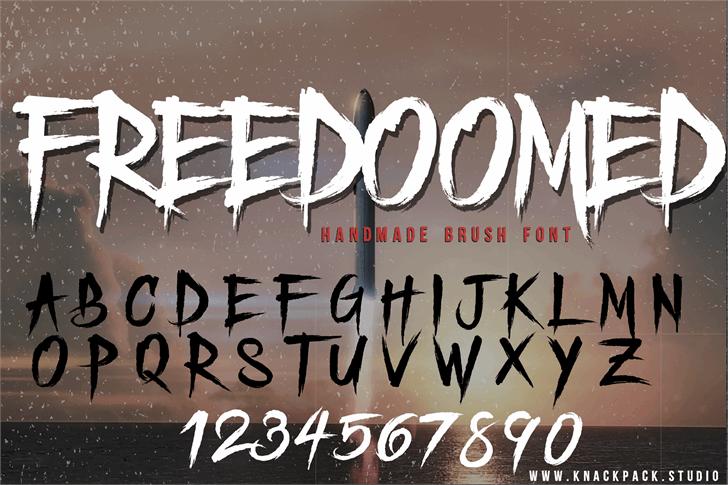 Freedoomed Demo font by knackpackstudio