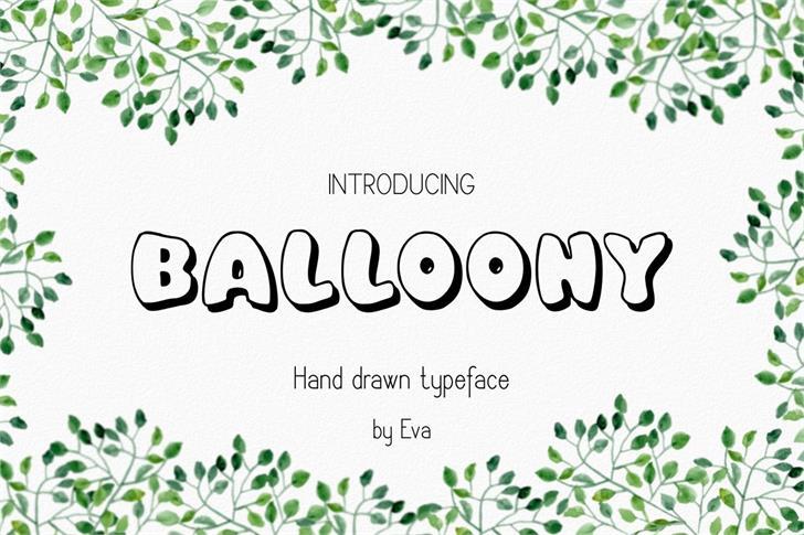 Balloony font by Eva Barabasne Olasz
