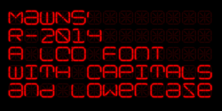 R-2014 font by Måns Grebäck