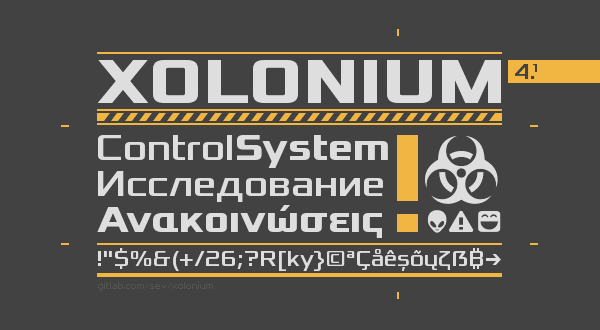 Xolonium font by Severin Meyer