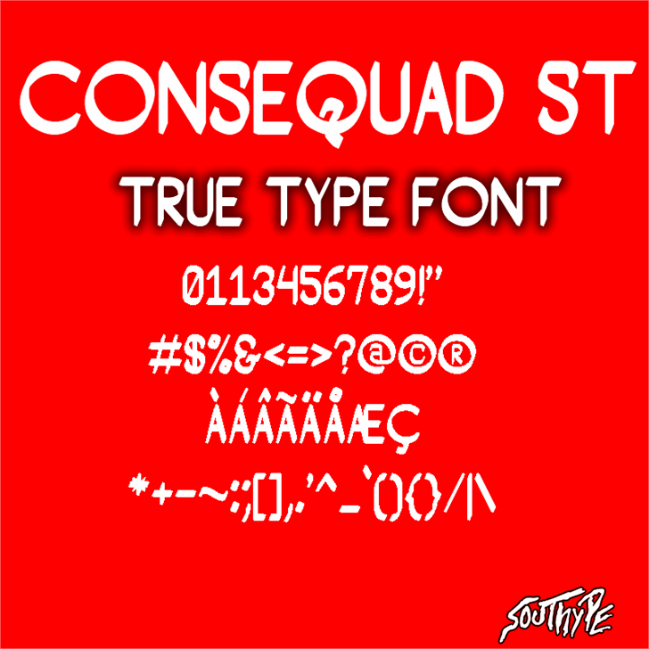 Consequad St font by Southype