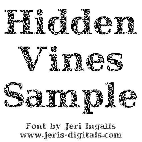JI Hidden Vines font by Jeri Ingalls