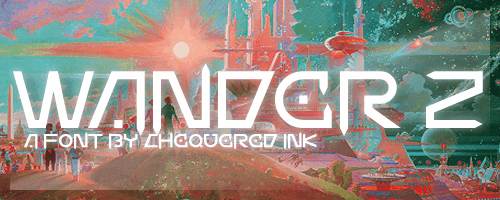 Wander Z font by Chequered Ink