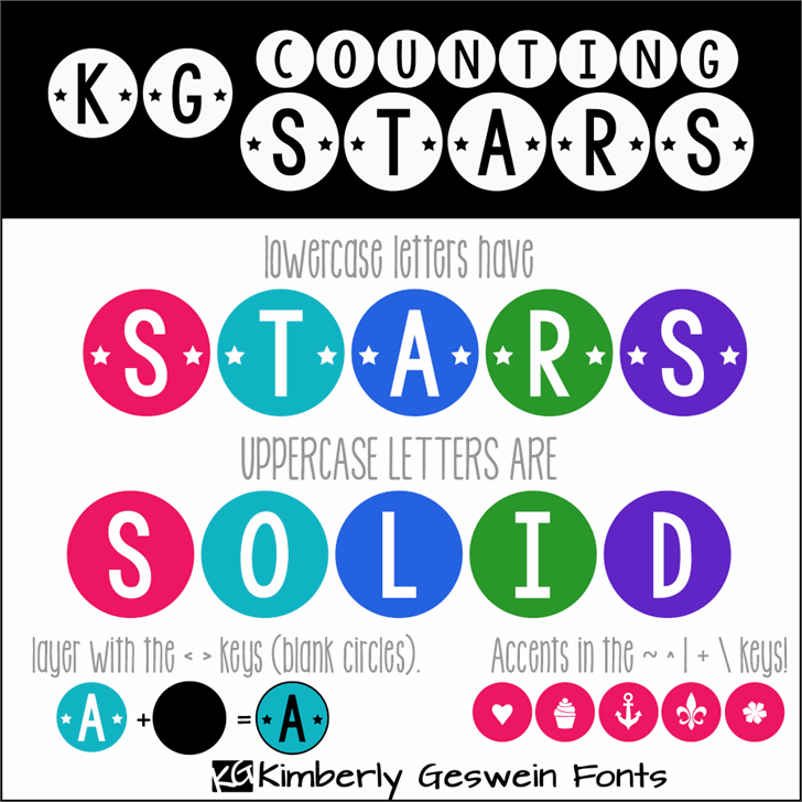 KG Counting Stars font by Kimberly Geswein