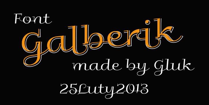 Galberik font by gluk