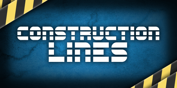 Construction Lines font by Chequered Ink