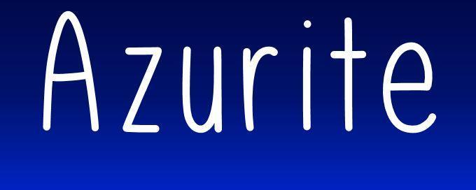 Azurite font by UpandIt