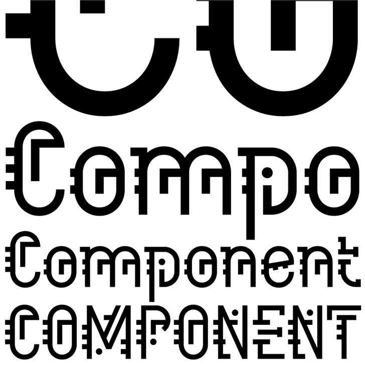 Component font by K-Type