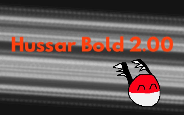 Hussar font by KineticPlasma Fonts
