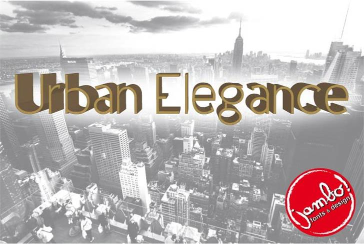 Urban Elegance font by Jambo! Fonts & Design