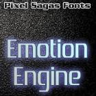 Emotion Engine font by Pixel Sagas